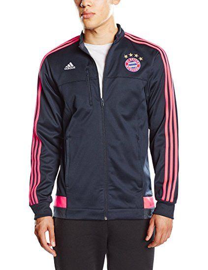 adidas Herren Trainingsjacke FC Bayern Anthem Jacket, ntnavy/flared, XS, AA7533