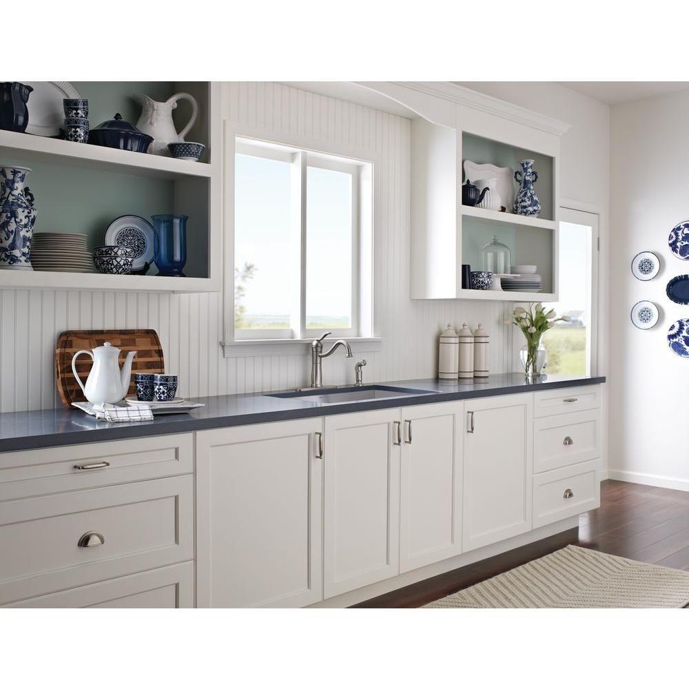 MOEN Walden Single-Handle Standard Kitchen Faucet with Side Sprayer ...