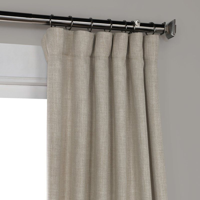 Clem Solid Max Blackout Thermal Rod Pocket Single Curtain Panel