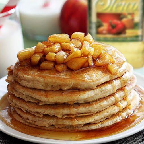 PANCAKES INTEGRALES DE MANZANA #receta Un desayuno aprobado por toda la…