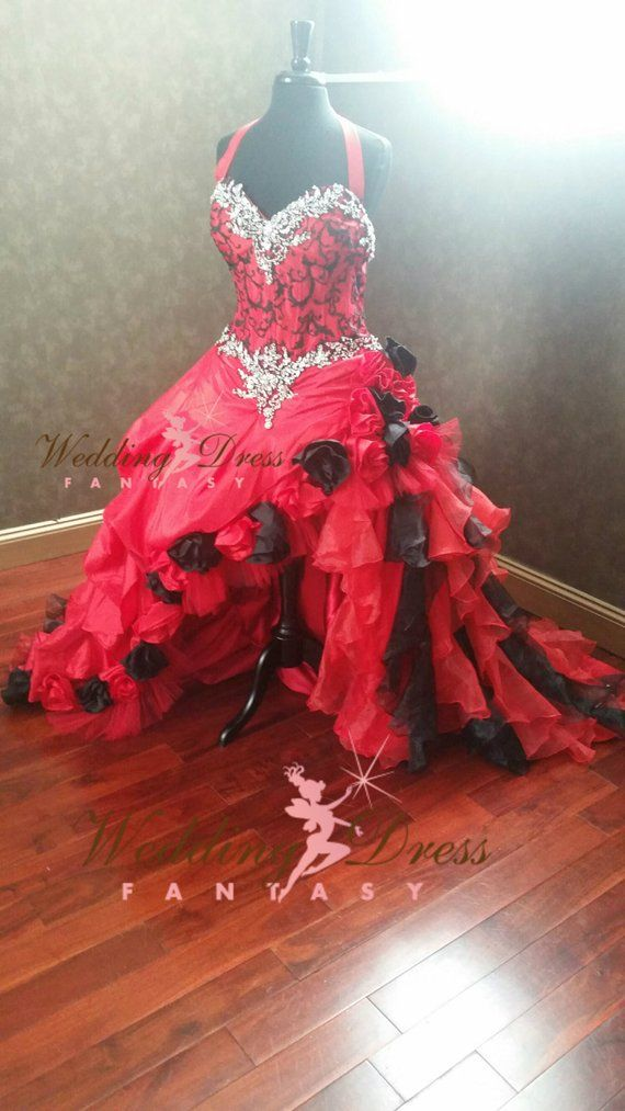 Red And Black Gothic Wedding Dress Gothic Wedding Dress Red