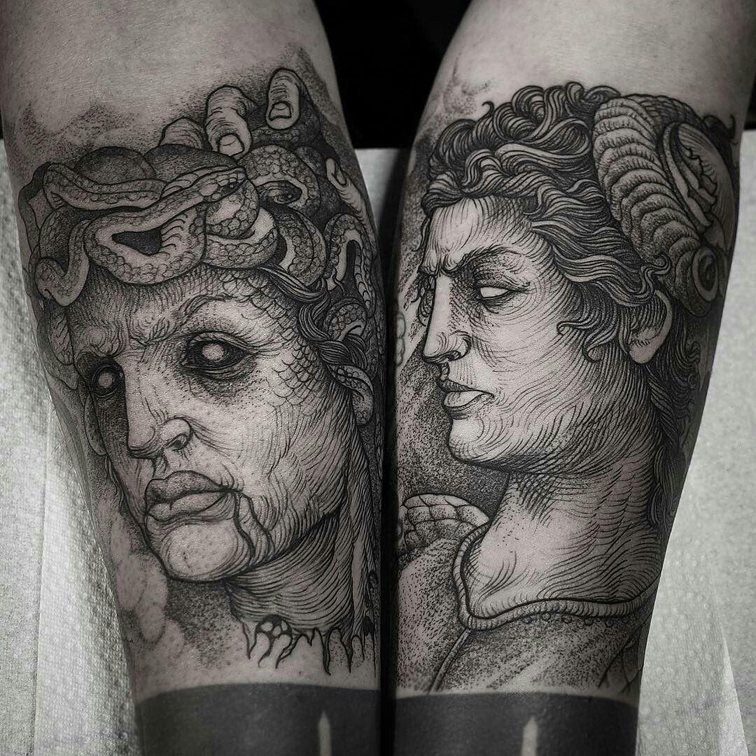 Perseus Vs Medusa By Robert Borbas Grindesign Tattoo