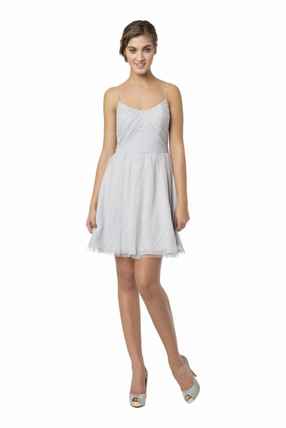 Look stunning in this short dress from bari jay bridesmaid the