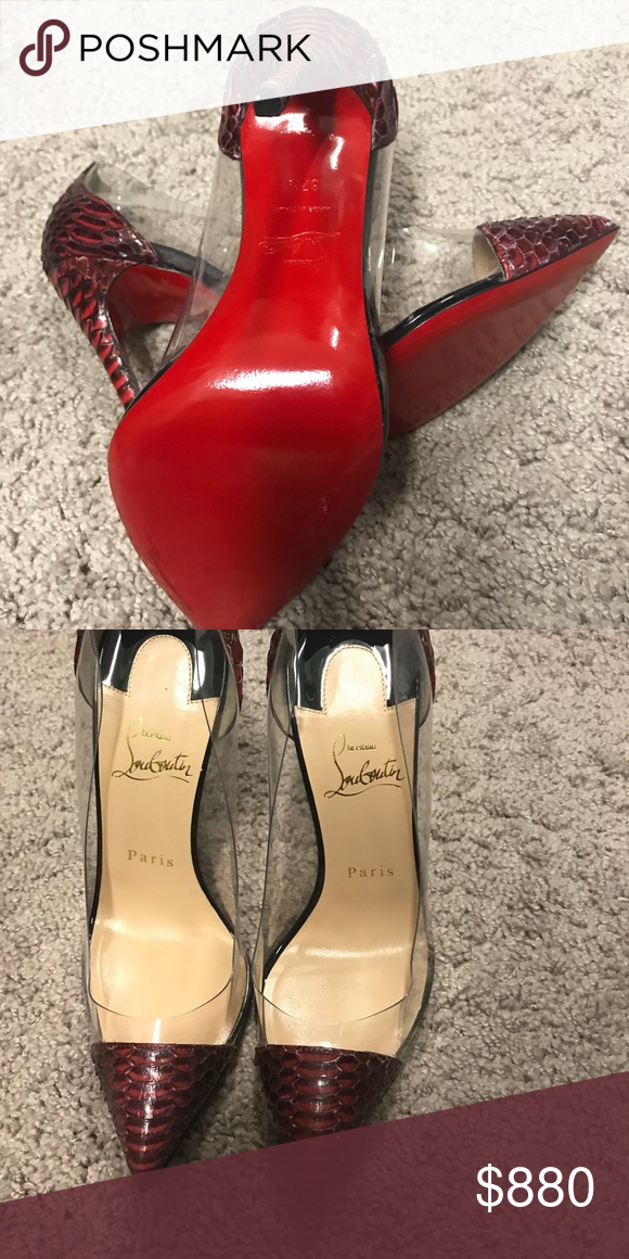 the best attitude 58eb2 4362d Christian Louboutin Shoes   Brand New Snake Leather Shoes ...