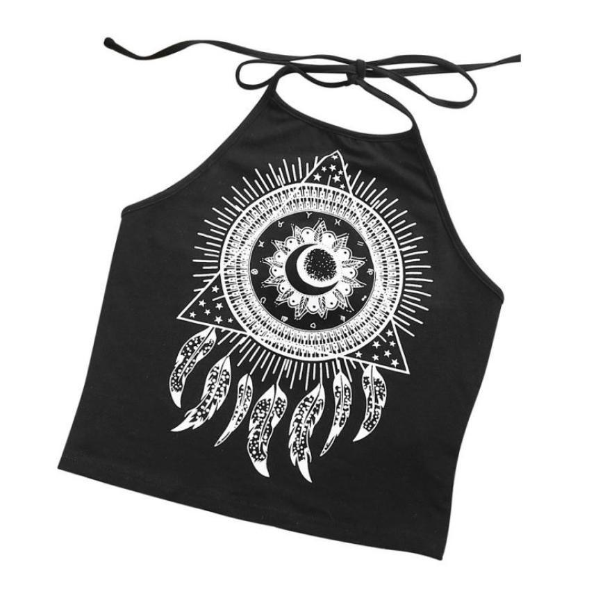 Illuminati Dreamcatcher Halter Crop Top
