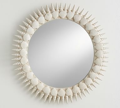 Lilly Pulitzer Round Shell Mirror Lilly Pulitzer