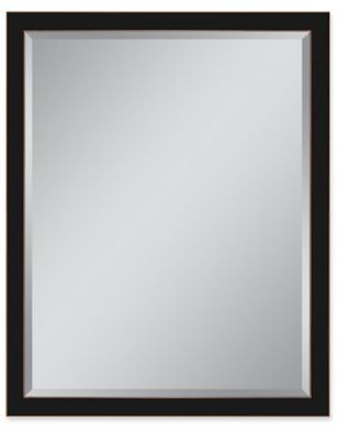 Metal Frame 30-Inch x 40-Inch Rectangular Wall Mirror in Oil-Rubbed ...