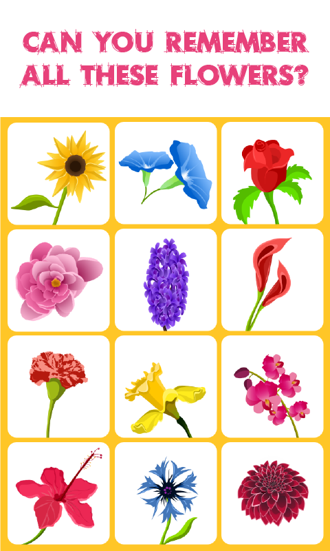 Flowers Match Memory Game is a concentrationstyle