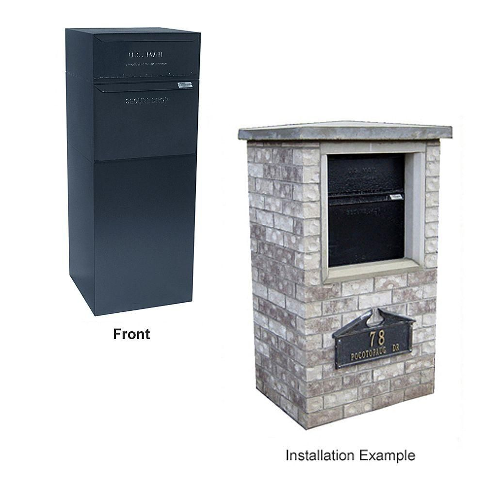 dvault curbside mail and package delivery vault black locking mailboxes never worry about mail theft again curbside delivery vault without letterbox - Locking Mailboxes