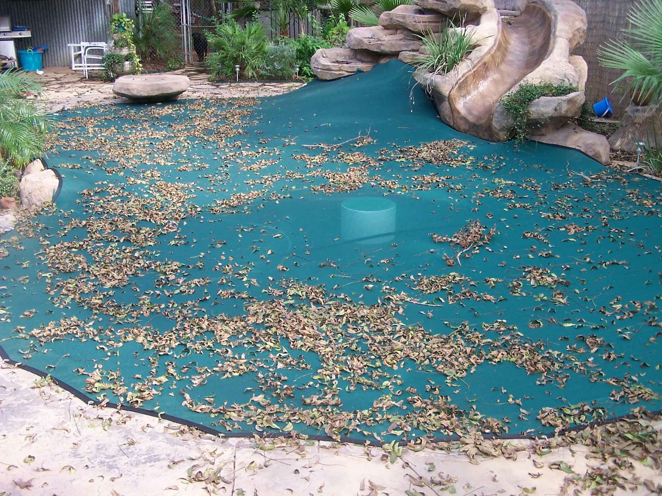 Custom Fit Pool Leaf Covers   pools   Solar pool cover ...