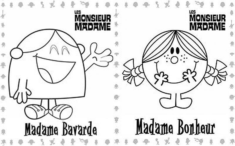 Monsieur Madame Coloriage   Recherche Google