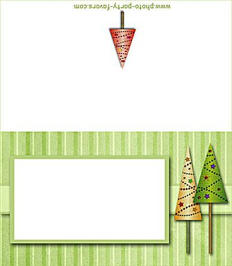 free printable Christmas trees place card, buffet card, gift card - printable christmas gift certificate