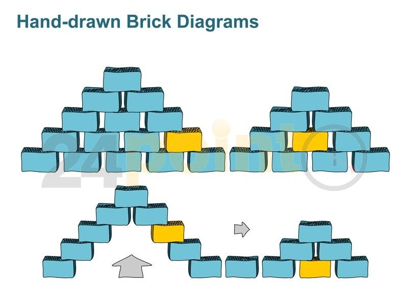 editable powerpoint template - block diagrams - hand-drawn ppt graphics
