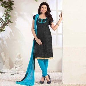 Black Casual Wear Salwar Suit