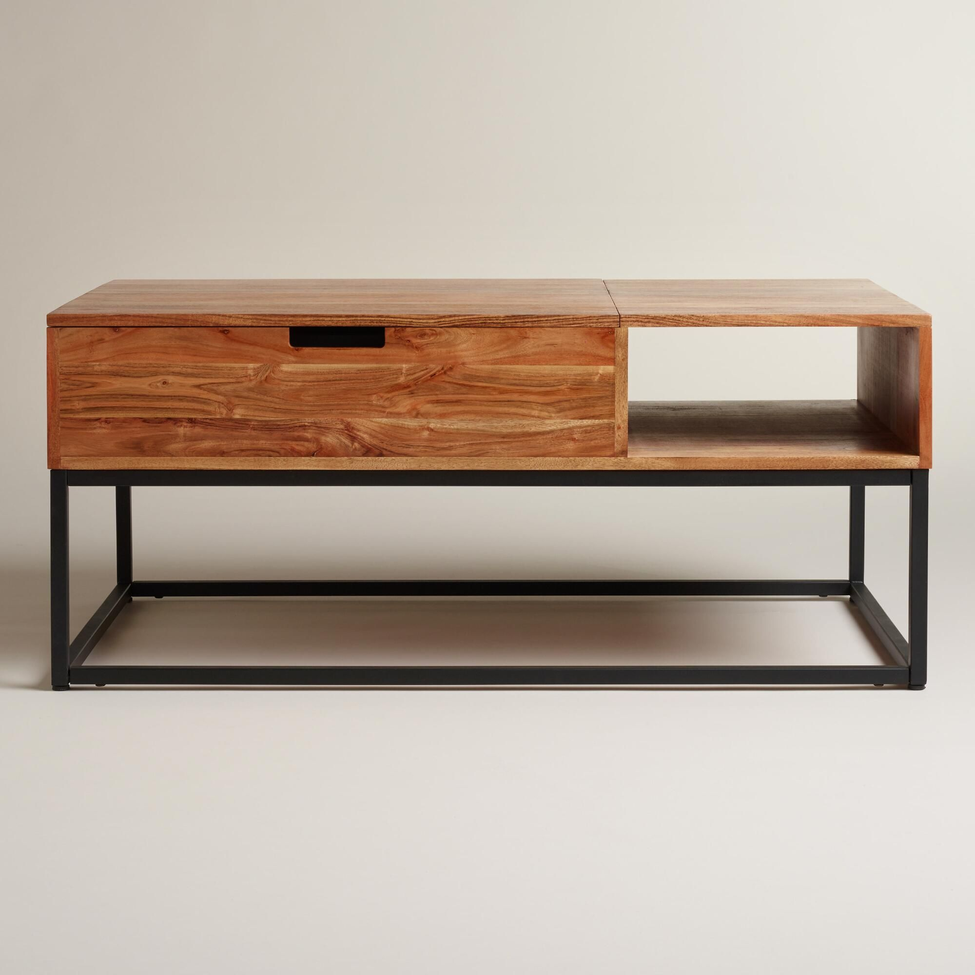 Wood Silas Storage Coffee Table Coffee Table With Storage Living Room Coffee Table Metal Coffee Table [ 2000 x 2000 Pixel ]