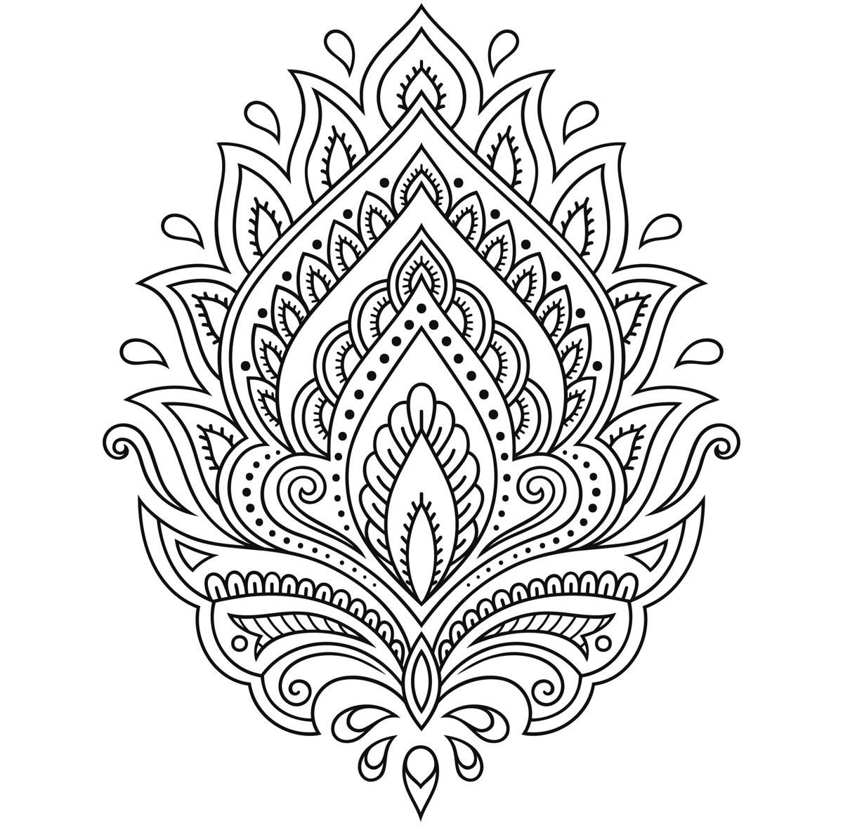 Tattoo flower template Henna drawings, Mandala tattoo