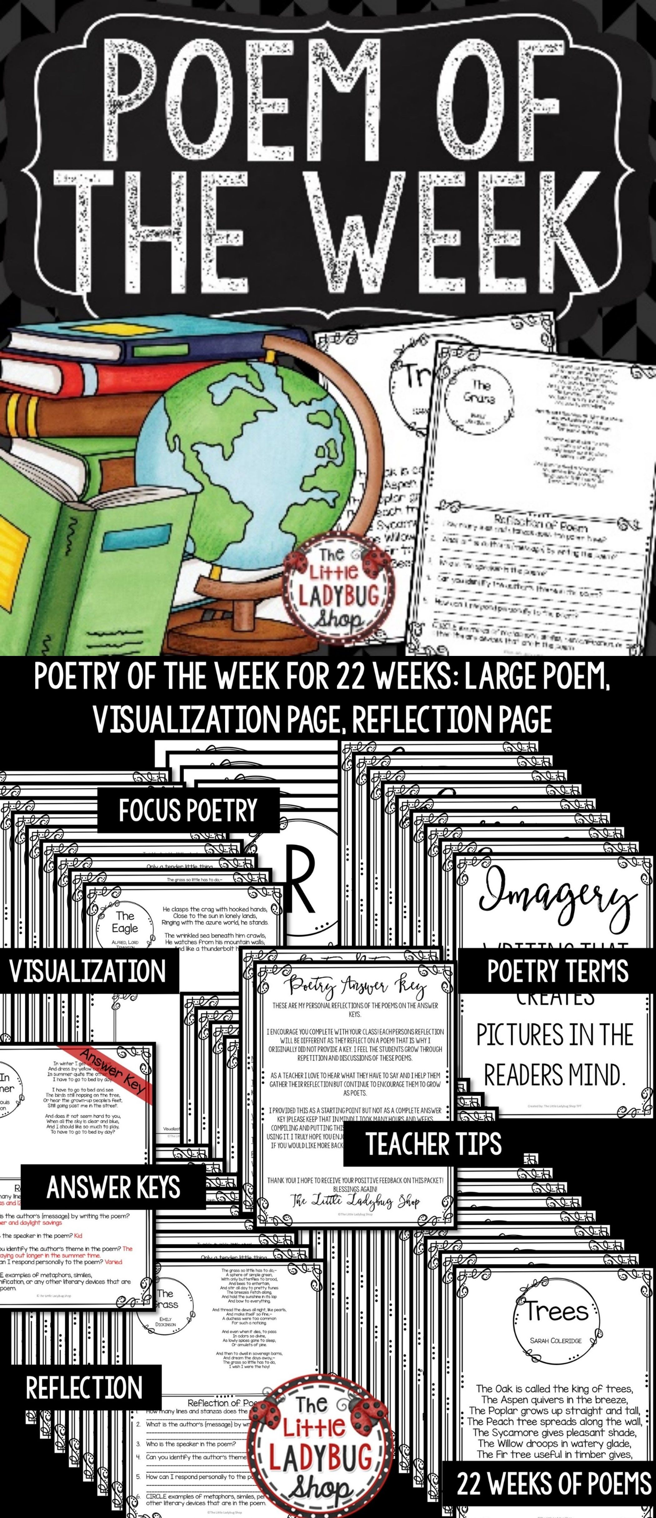 This Poem Of The Week Unit Is A Complete Way To Get You Set Up To Begin Thi Upper Elementary Writing Reading Comprehension Passages Upper Elementary Activities [ 4860 x 2100 Pixel ]