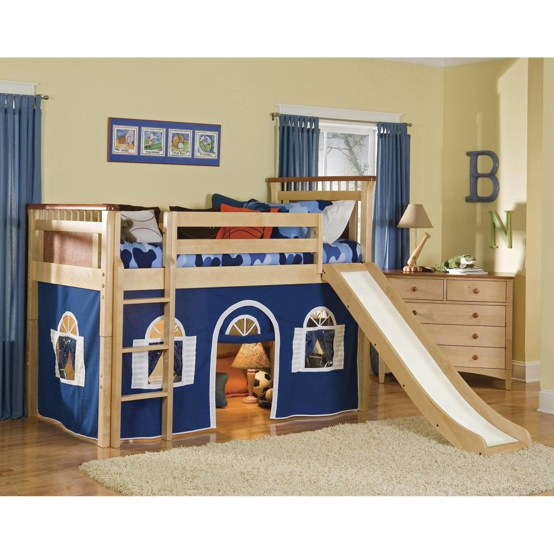 Dazzling Cool Kid Beds With Cream Wooden Bunk Bed Frame