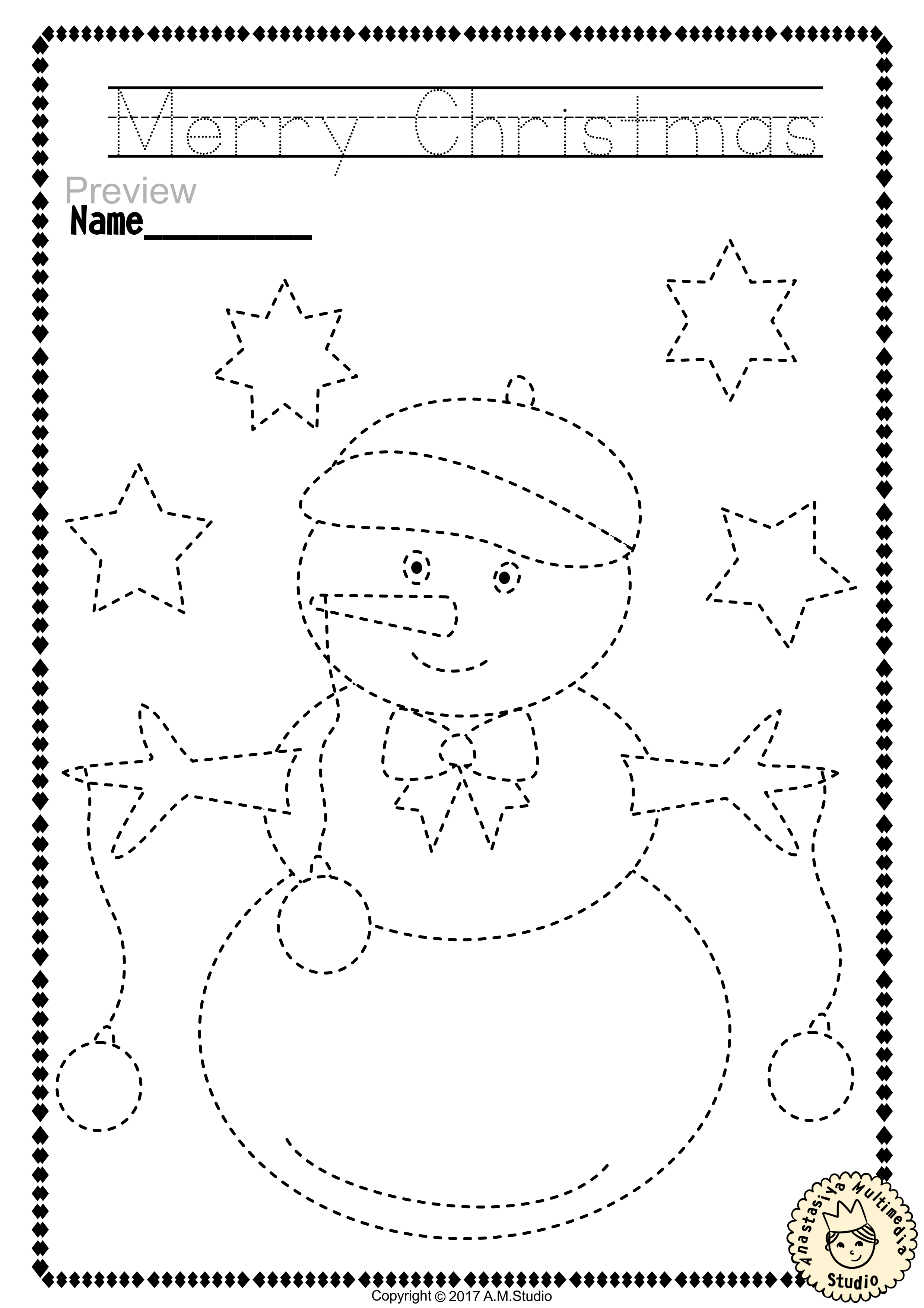 Worksheets Fine Motor Skills Worksheets christmas trace and color pages fine motor skills pre writing writing