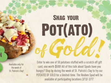 McAlister's Deli Pot(ato) of Gold Sweepstakes | 2017 Giveaways i ...