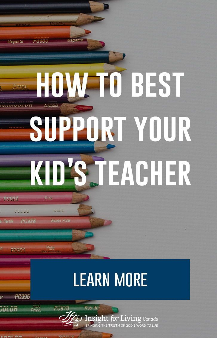 How to best support your kids teacher learn more