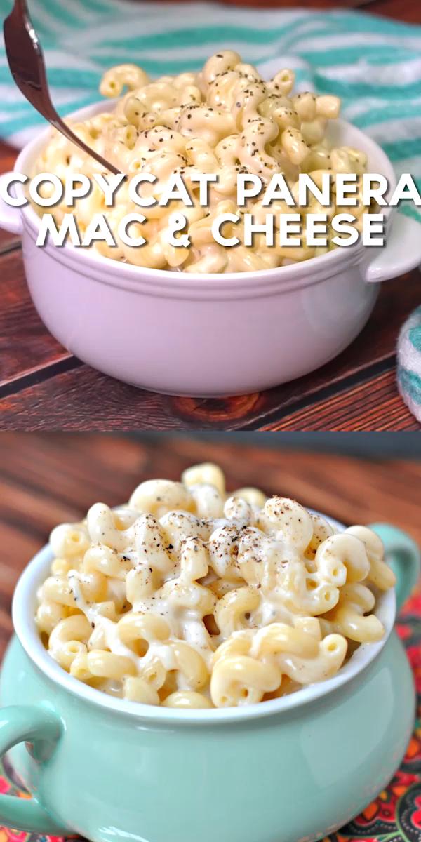 Copycat Panera Mac & Cheese -  Creamy white cheddar macaroni and cheese just like Panera. Give this