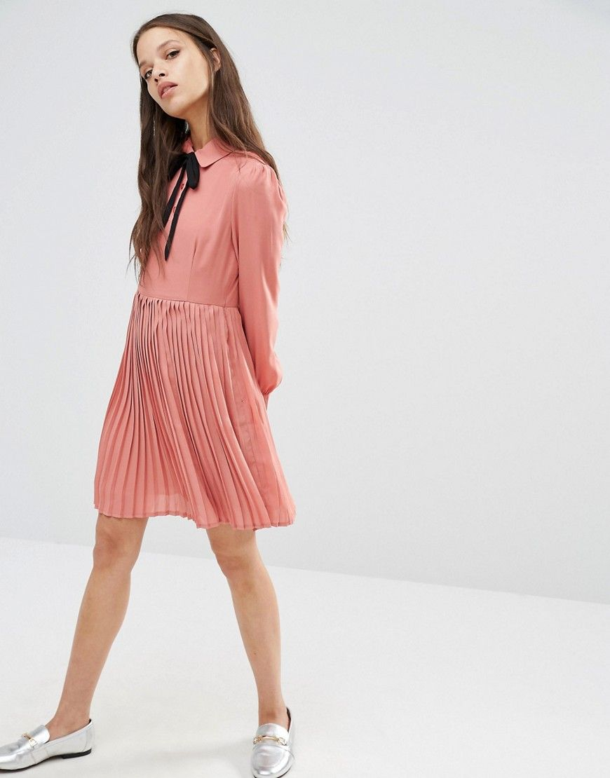 Womens Diana Pleated Skater Dress Fashion Union Discount Outlet Locations D6abxCr3b