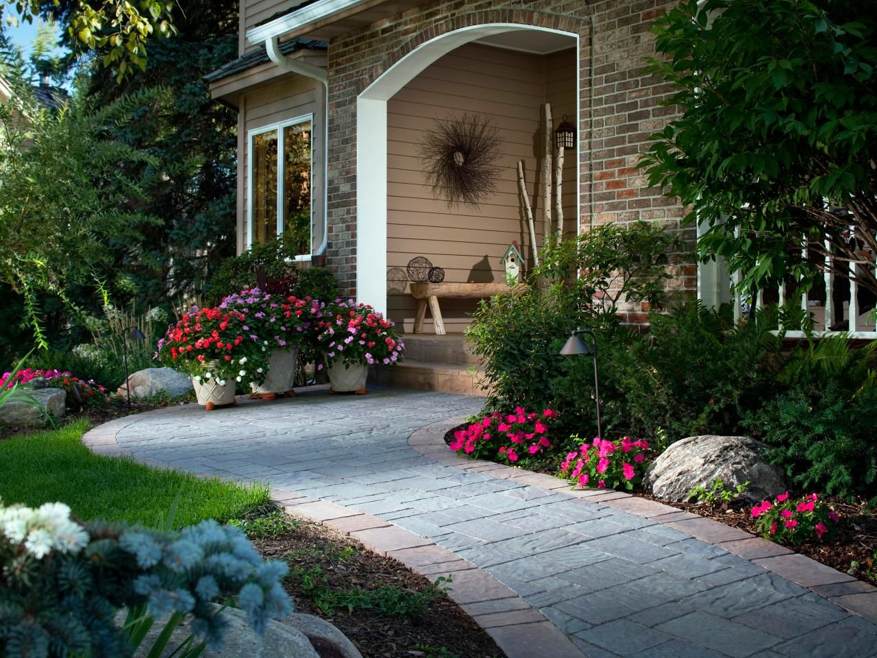 Front yard driveway landscaping ideas  Outfit Your Homeus Exterior  Exterior trim Save energy and