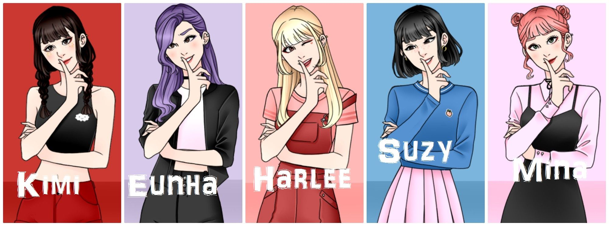 K Pop Idol Girl Group Belongs Me Demiwitch Of Mischief My Oc S Kimi Eunha Harlee Suzy And Mina Girl Group Pop Idol Kpop Idol