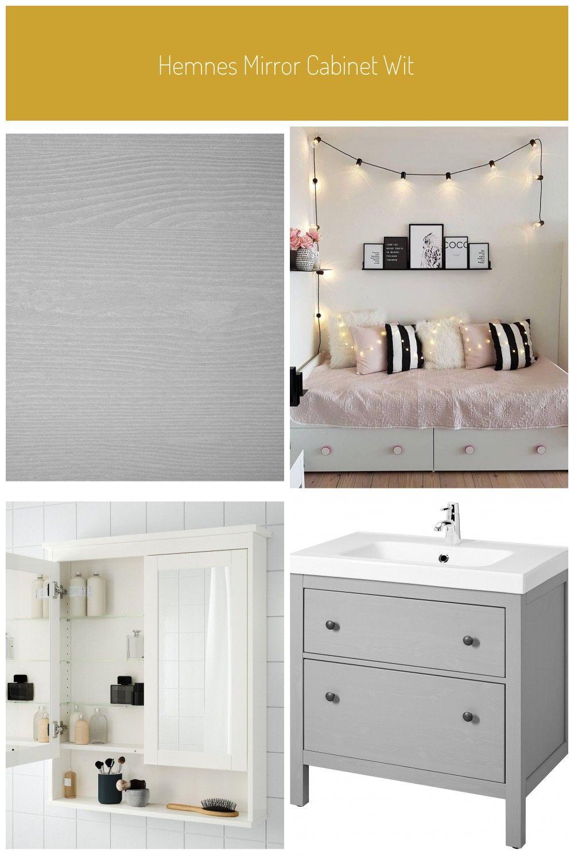 Hemnes Mirror Cabinet With 2 Doors Gray Ikea In 2020 Ikea Hemnes Bett Teppich Design Ikea