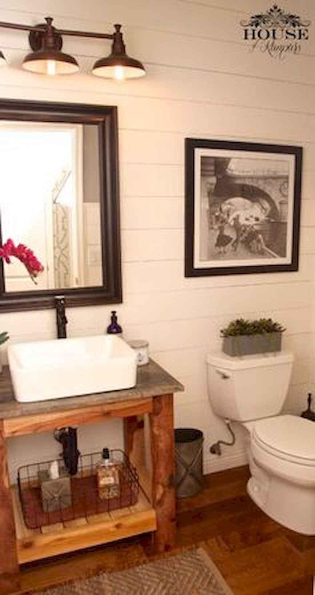 60 Cool Farmhouse Powder Room Design Ideas With Rustic