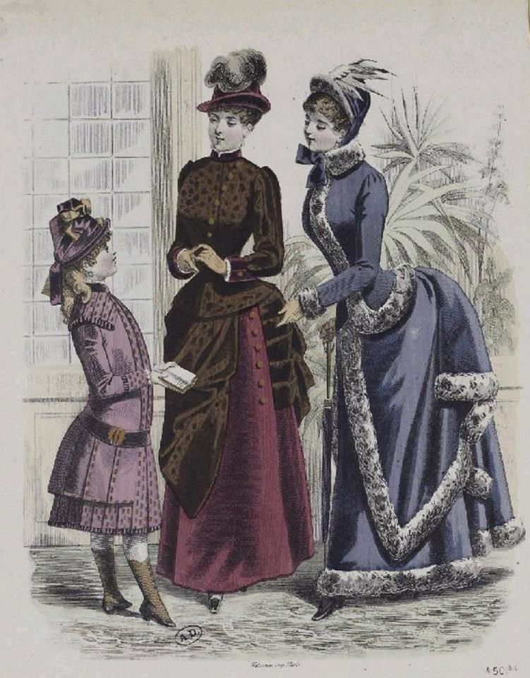 1880s winter ensembles
