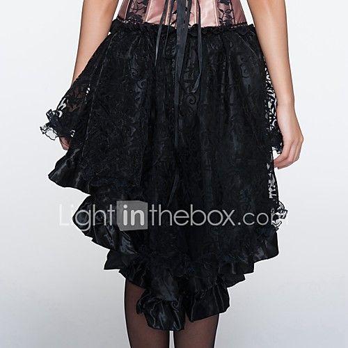 YUIYE® Women Spring Summer Sexy Elegant Black Lace Sexy Lingerie Corset Dress Plus Size 2017 - $23.11