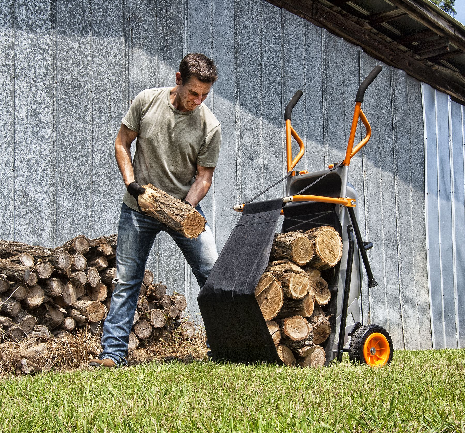 New Firewood Hauler Accessory For The Worx Aerocart 8 In 1 All Purpose Carrier Much More Than A Wheelbarrow