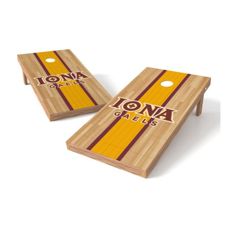 Outstanding Ttxl Shield Hardwood College Iona College Bean Bag Toss Game Creativecarmelina Interior Chair Design Creativecarmelinacom