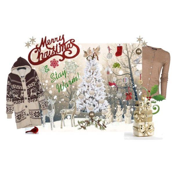 """Merry Christmas & Stay Warm"" by pamela-heinbaugh on Polyvore"