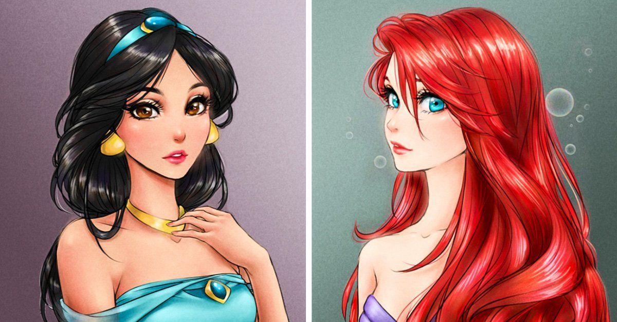 15 Princesas De Disney Dibujadas Como Personajes De Anime Princesas Disney Princesas Disney Dibujos Dibujos De Disney