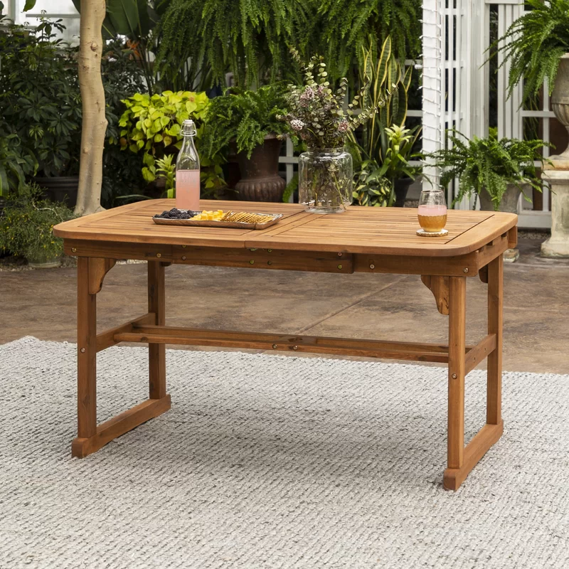 Tim Extendable Wooden Dining Table In 2020 Wood Bar Table Outdoor Wood Table Simple Dining Table