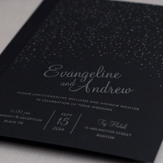 Attractive Featured Wedding Invitation: Starry Night By Wicked Bride Stationery