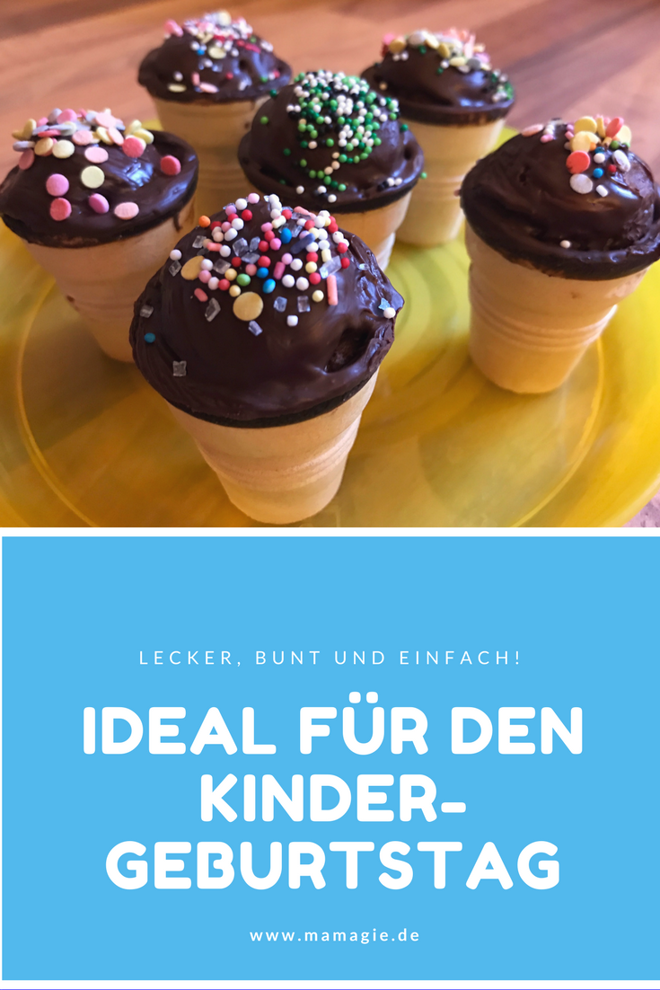 ideal f r den kindergeburtstag in kita kindergarten oder schule kleine kuchen im waffelbecher. Black Bedroom Furniture Sets. Home Design Ideas