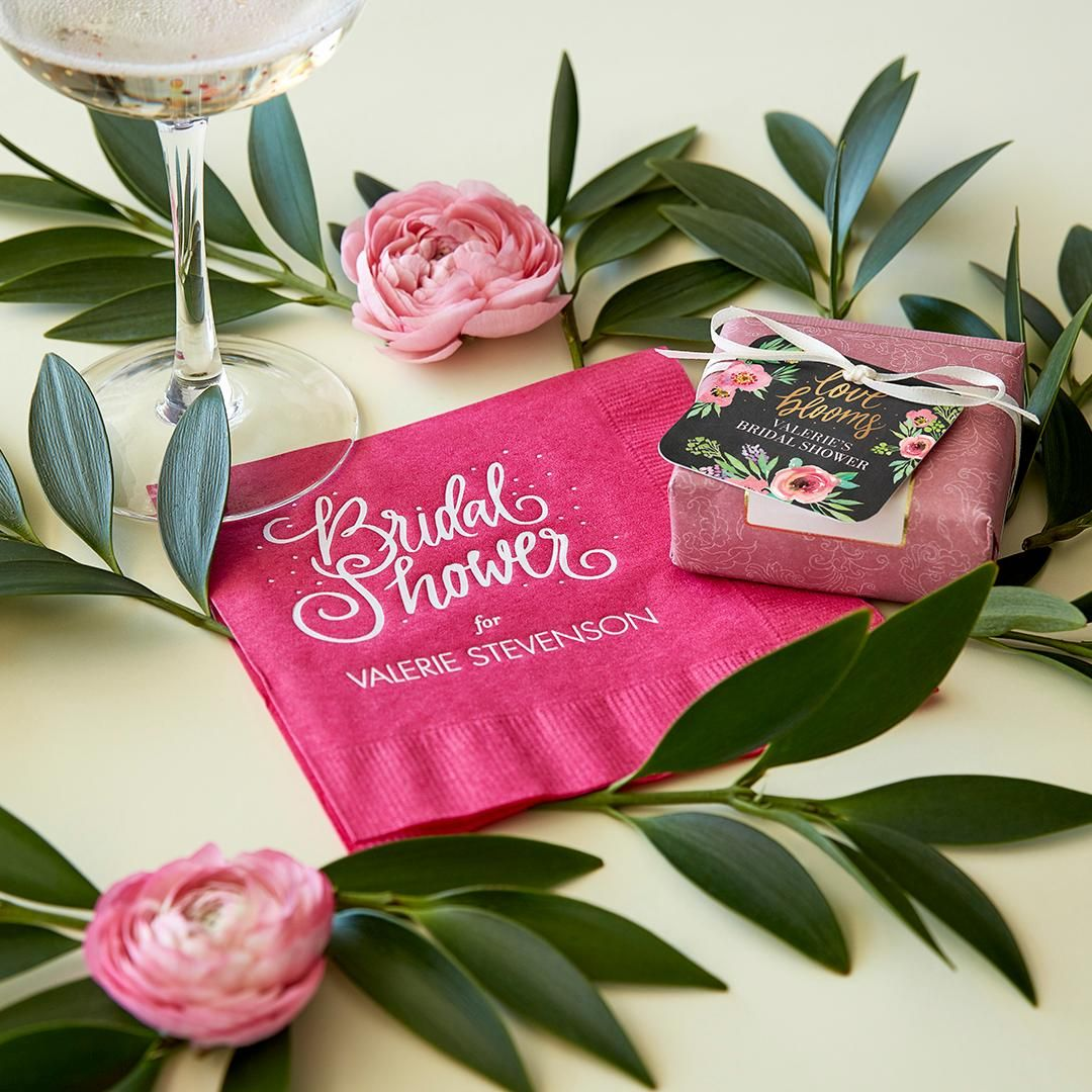 Cheers to the bride-to-be. Customize cheeky napkins with a reason to ...