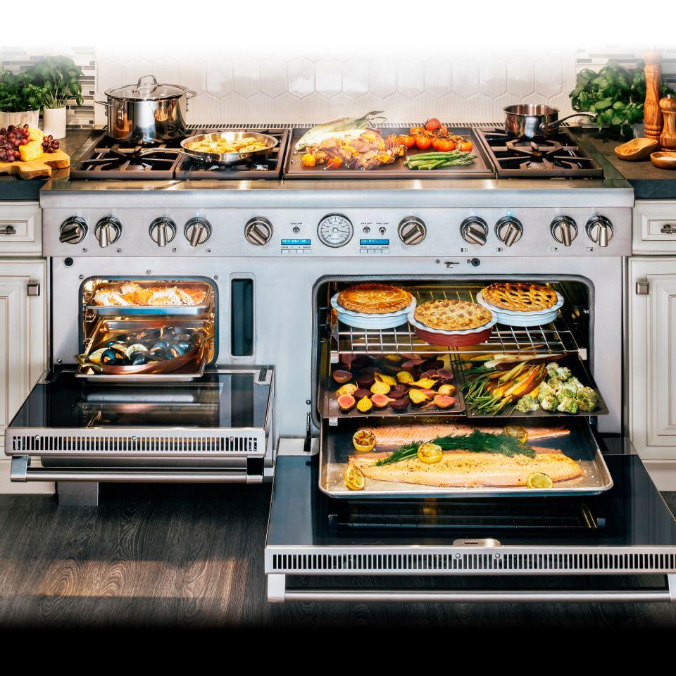 Épinglé Par Toni Roberts Sur Kitchen Design Pinterest - Cuisiniere gaz four multifonction pour idees de deco de cuisine