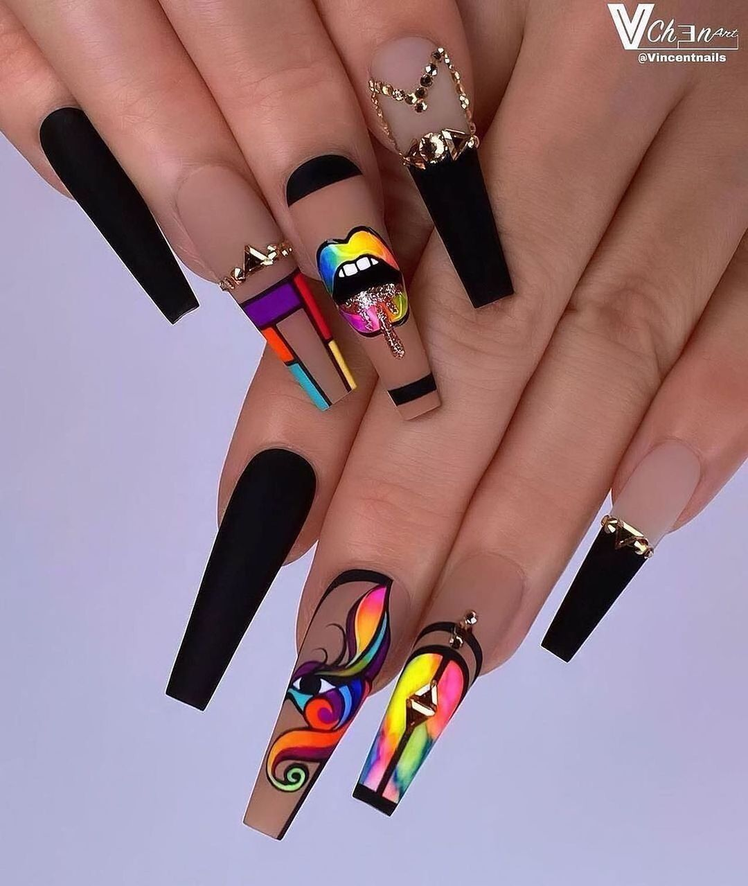 """About Nails on Instagram: """"let's go neon✨ - Follow"""