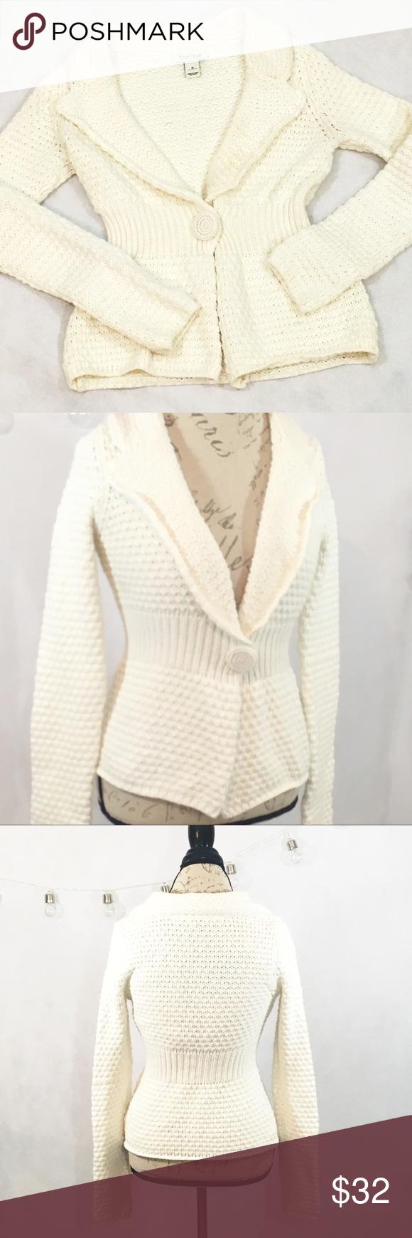 White House Black Market Cream Cardigan Sweater | Cream cardigan ...