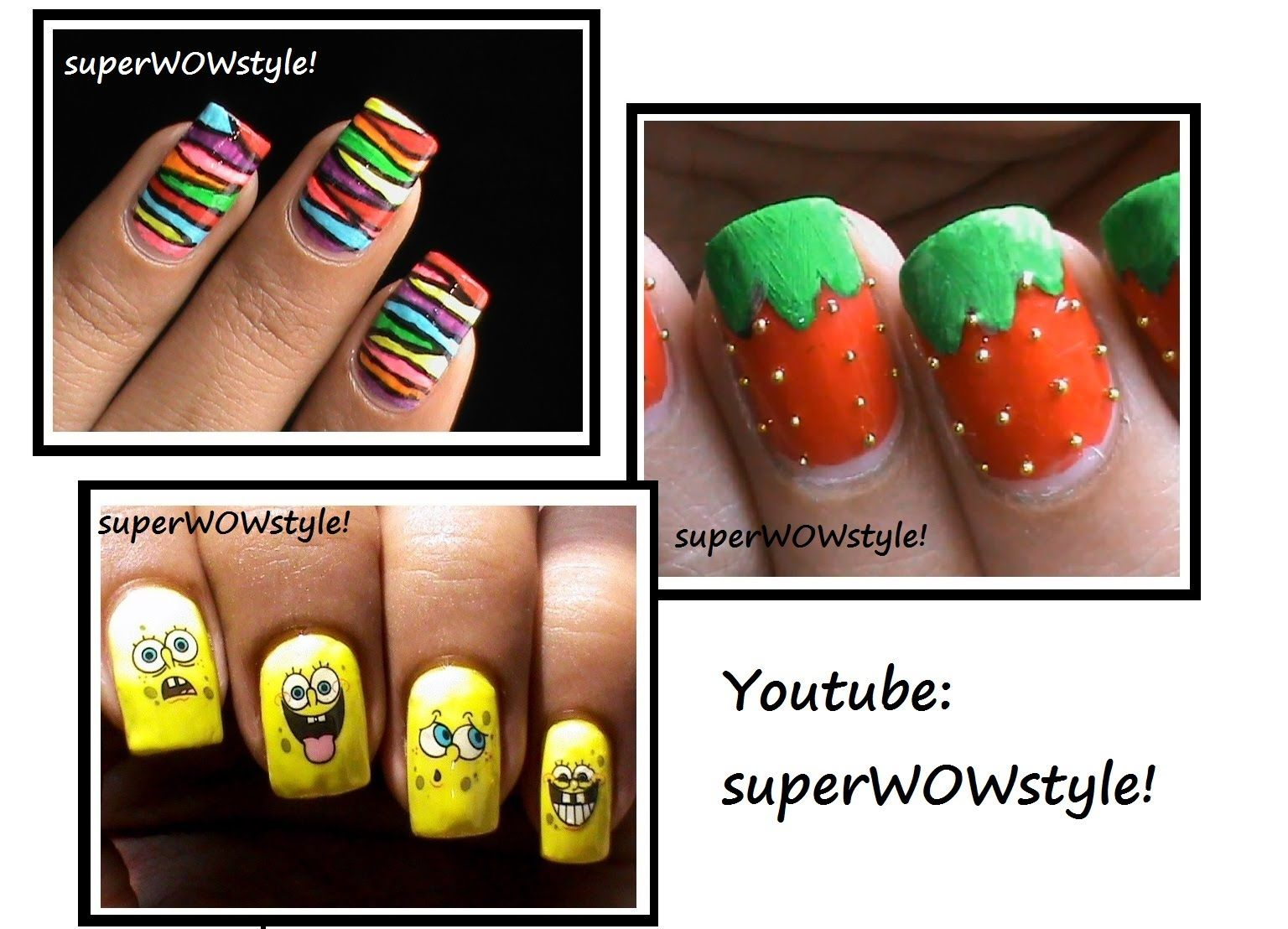 3 Nail Designs for Kids!! ☆ Kids Nail Art Ideas | Nails and Polish ...