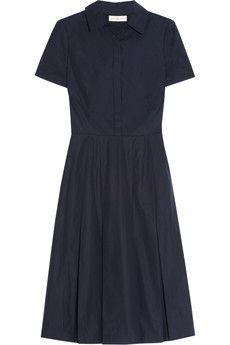 Simple but stylish dress. Tory Burch Carolina cotton-poplin dress | NET-A