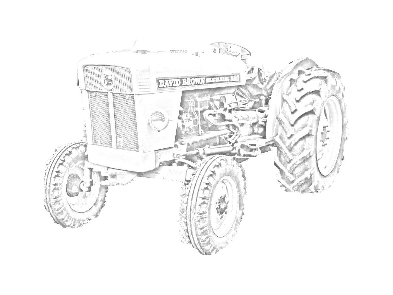 Ausmalbilder Traktor Deutz : Trattore David Brown Selectamatic 990 Da Stampare E Colorare Vedi