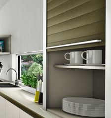 Kitchen cabinets ideas pinterest metal shutters and kitchens kitchen tambour doors also known as roller shutter doors offer a practical space saving solution where space is limited such as galley kitchens planetlyrics Gallery