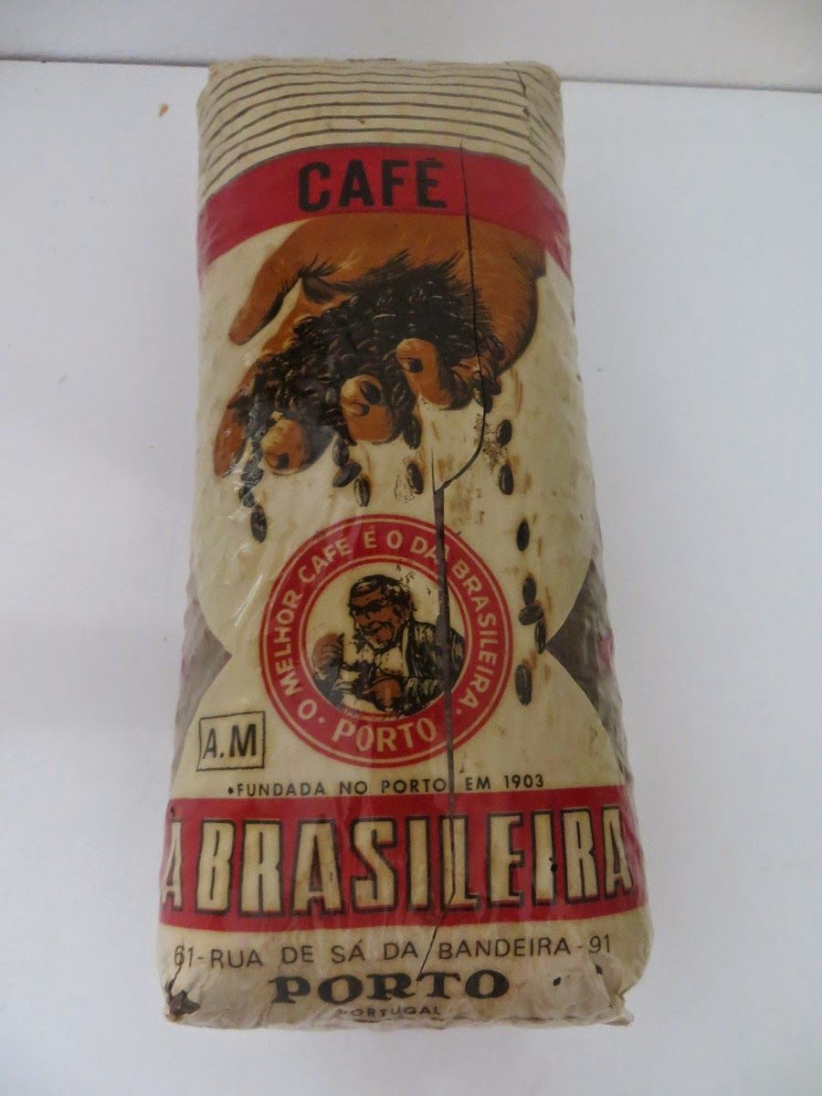 Sonho Antigo: Embalagem de grãos de café A Brasileira