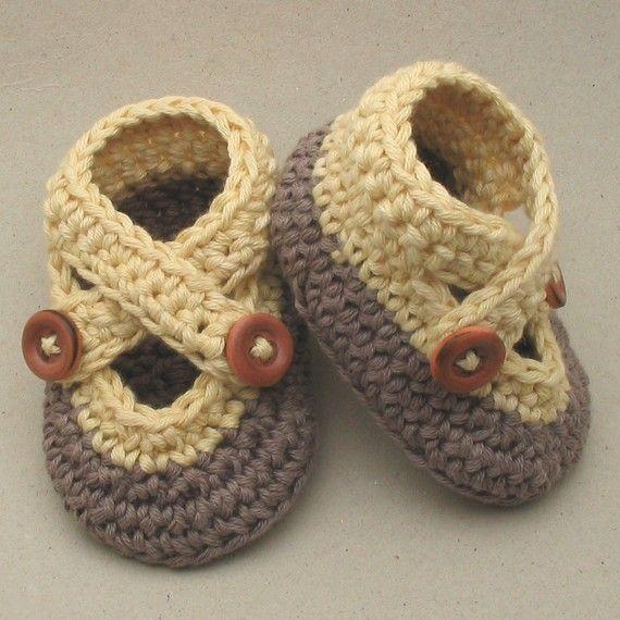 53f21ca4d Costuretas Social Club Zapatitos de beb ganchillo Crochet
